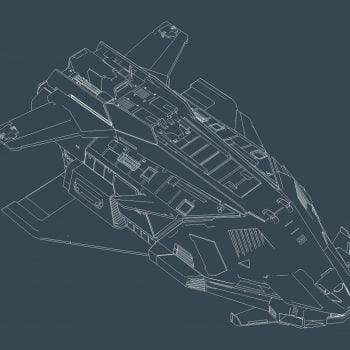 Federal Gun Ship Wireframe